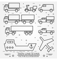 Delivery icon thin line for web and mobile modern vector image