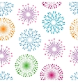 Fireworks seamless pattern background vector image