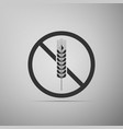 gluten free grain icon no wheat sign vector image