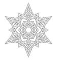 Hand drawn antistress snowflake vector image
