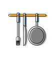 ladles and pan vector image