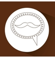 symbol hipster mustache fashion icon vector image