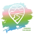 Towards the dreams Balloon and landscape Air vector image