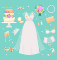 wedding ceremony fashion bride dress and vector image