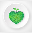 world environment day concept abstract love the vector image