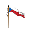 Flag Czech Republic Torn Ripped Retro vector image