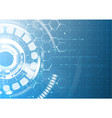 abstract technological future interface blueprint vector image
