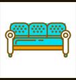 blue big furniture vector image