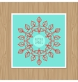 vintage greeting card with outline frame vector image