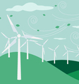 Landscape with electric and eco power windmill vector image