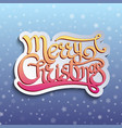 card with handwritten quote merry christmas vector image