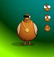 chickensRround Bling Chicken vector image