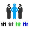 developer team flat icon vector image