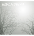 Dried trees in the winter vector image