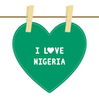 I lOVE NIGERIA6 vector image