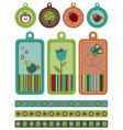tags and borders vector image