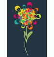 Social media people flower vector image vector image
