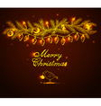 Christmas doodle background vector image vector image