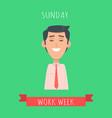 work week emotive concept in flat design vector image vector image