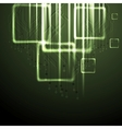 Green shiny technology background vector image