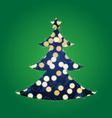 Shining Lights Christmas Tree vector image