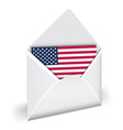 usa flag in opened envelope vector holiday indepen vector image