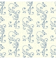 Vintage seamless pattern with floral ornament vector image