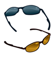 two pairs of sunglasses vector image