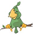 Green parrot cartoon vector image vector image