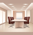 Realistic Meeting Room Interior vector image