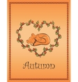 autumn card with fox vector image vector image