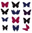 butterflies silhouette - vector image