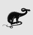 dinosaur apatosaurus silhouette on isolated vector image