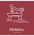 Gymnastics athlete at Pommel Horse doing exercise vector image