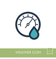 hygrometer icon meteorology weather vector image