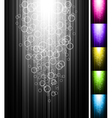 line with circles shine vertical background vector image