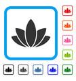 lotus flower framed icon vector image