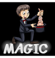 Magician using a hat vector image