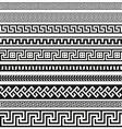 Old greek border designs vector image