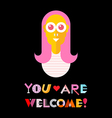 you are welcome vector image vector image