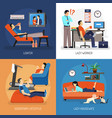 lazy people compositions vector image