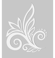 Paper floral design element on a gray background vector image