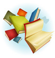 books collection background vector image