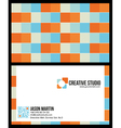 Creative colorful business card vector image