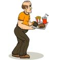 Glutton vector image vector image