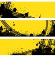 Three tire track banner vector image