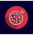 handmade pizza logo concept vector image