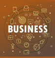 business concept different thin line icons vector image