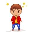 cute cartoon children boy in vector image