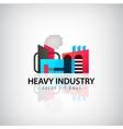 heavy industry building logo icon vector image